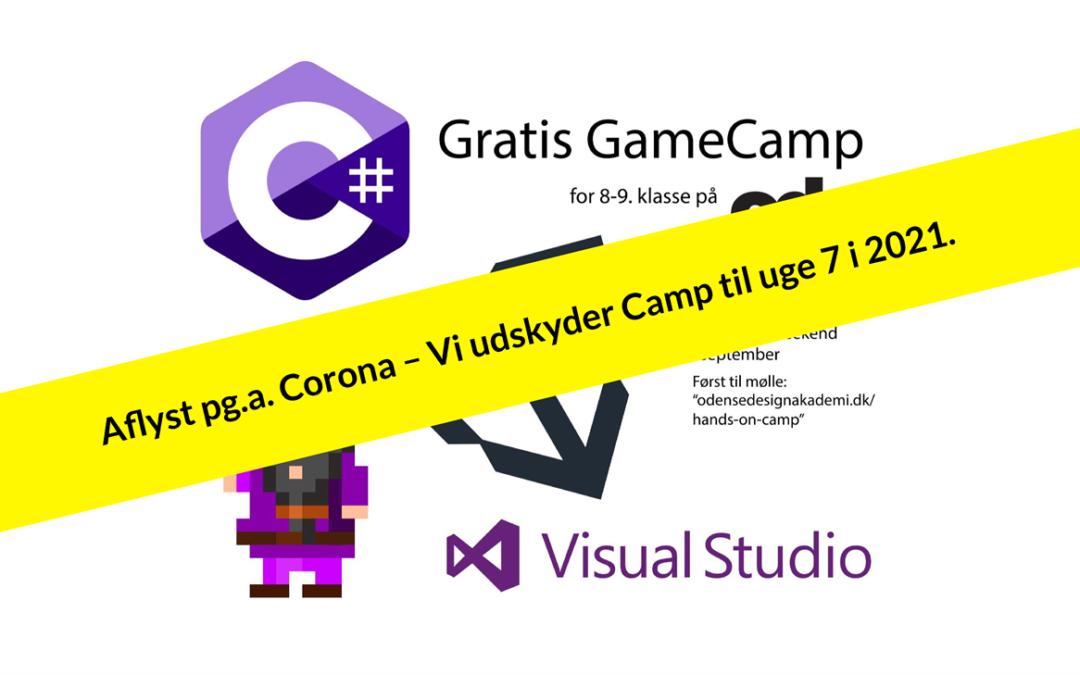 Tilmeld dig til Game camp 2020 (UDSKUDT pga corona, læs beskrivelse)